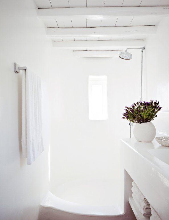 white bathroom love