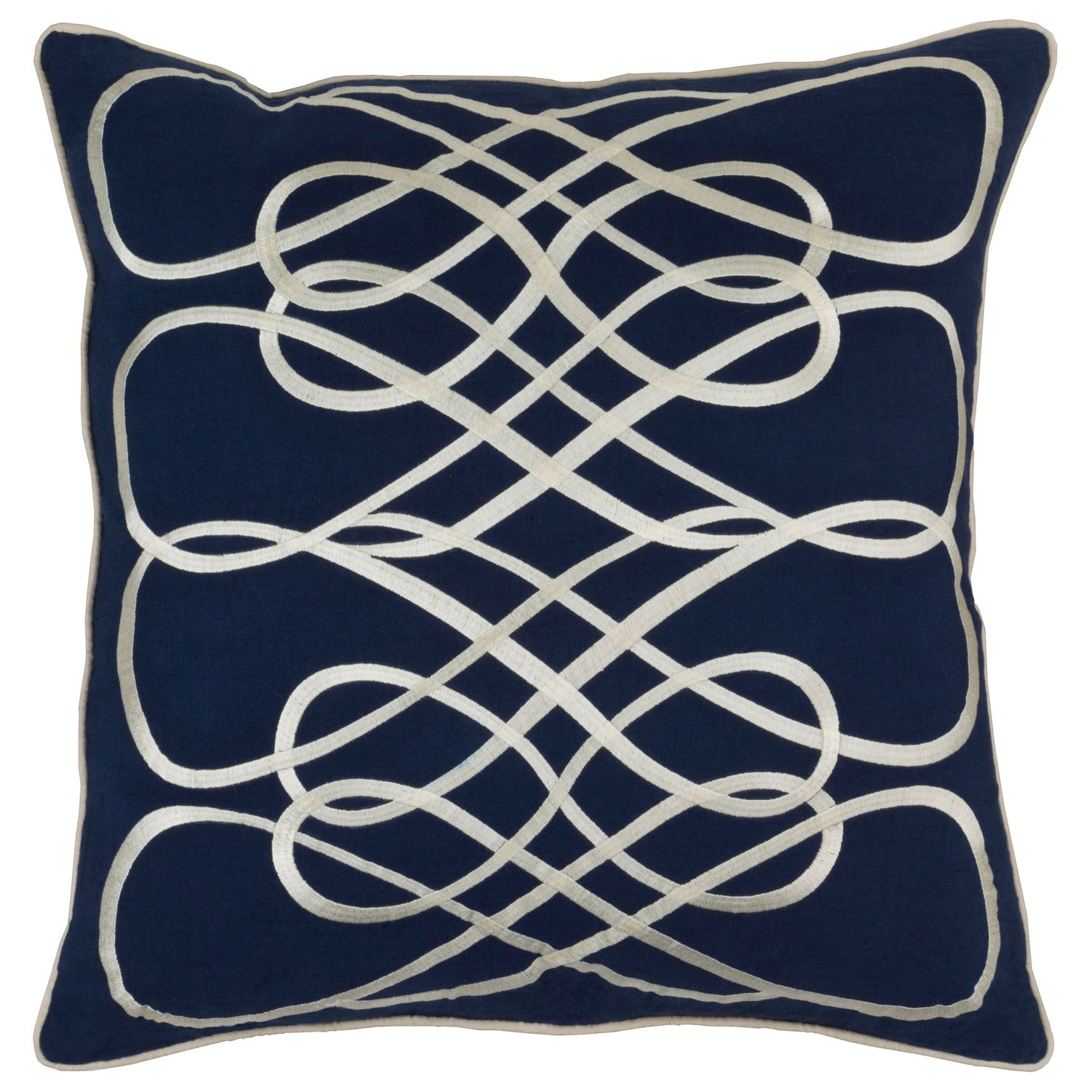Surya Leah Navy Decorative Pillow @Laylagrayce Throw Pillow Coversdecorative