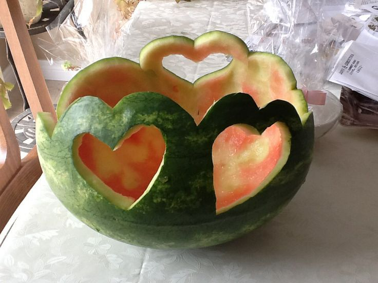Watermelon Carving Heart Fruit