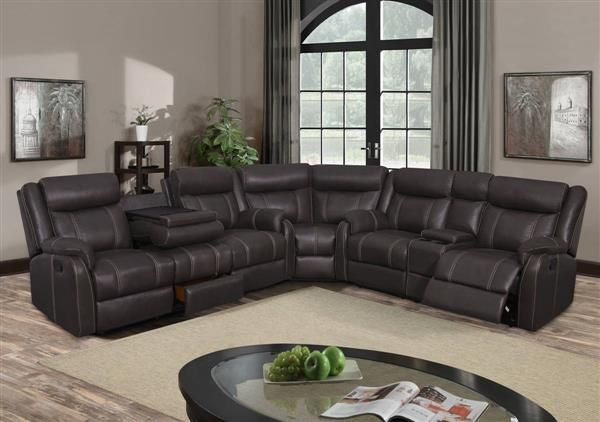 3 pc brown sectional sofa charcoal printed microfiber 3pc sectional sectionals pinterest