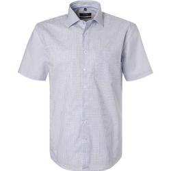 Photo of Seidensticker summer shirt men, cotton, blue silk stickers