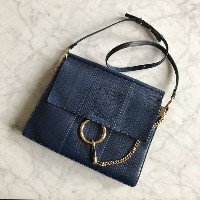 b27dee2d3fc1 chloe faye bag in midnight blue water snake leather. excellent perfect  condition. rare and striking color in real life. bought for  2890   chloefaye  chloe