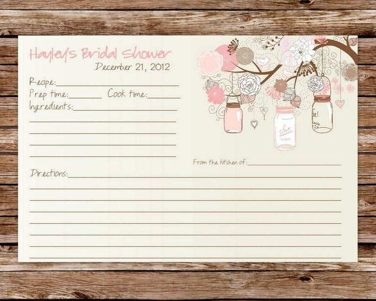 תוצאת תמונה עבור ingredient card graphic design card - baby shower agenda template