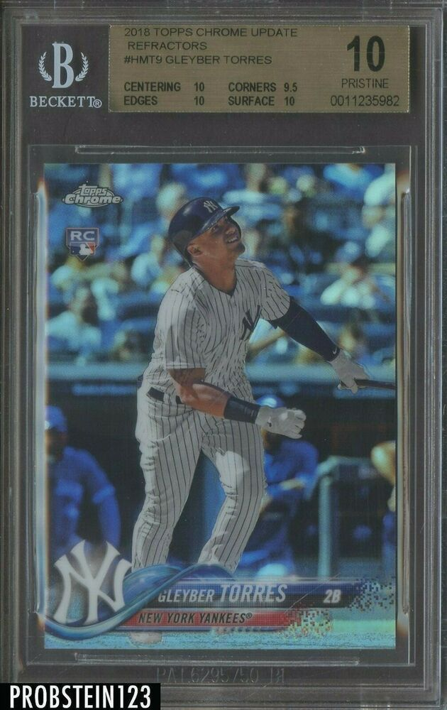 2016 Topps Chrome Prism Refractor Corey Seager Rookie #150 PSA 10