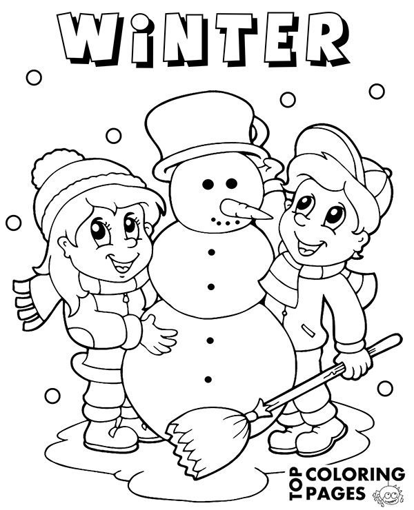 Topcoloringpages Net: Check More Winter Coloring Sheets For Children On