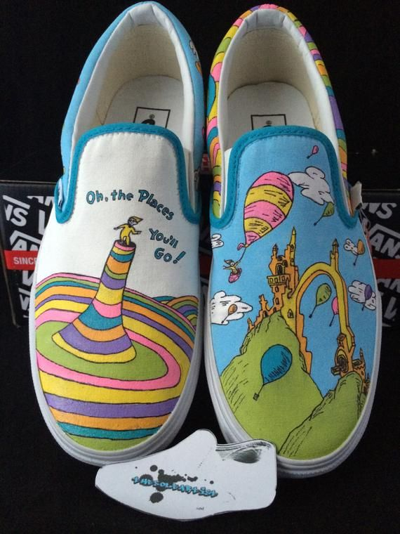 Painted canvas shoes, Painted vans