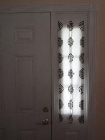 how to make modern curtains for sidelight windows