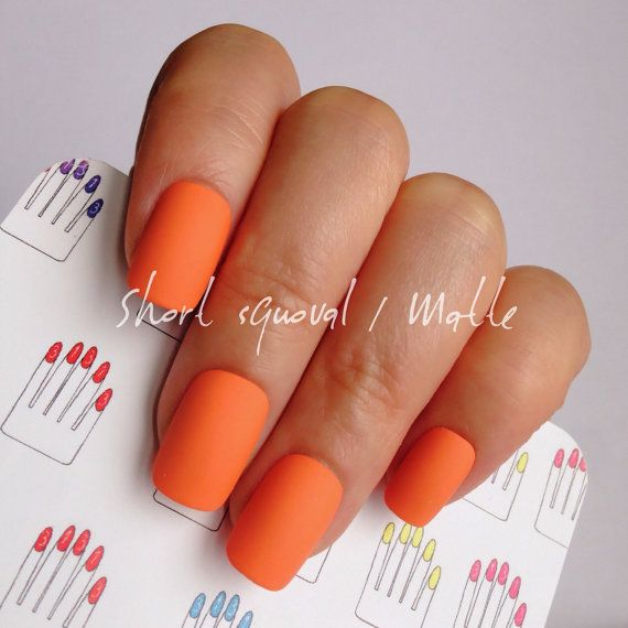 Pin By Brittany Pontbriand On Neat Nails Rounded Acrylic Nails Neon Acrylic Nails Orange Acrylic Nails