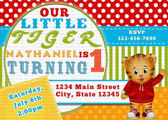 Daniel Tiger Invitation Daniel Tiger Birthday Invitations Daniel