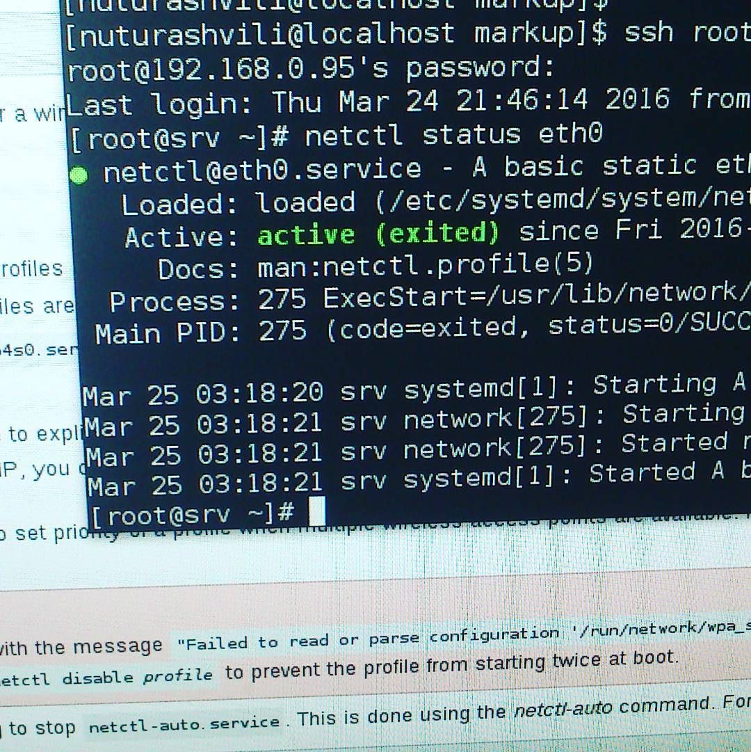 Finally I have configured static IP on arch   )))) #linux #network