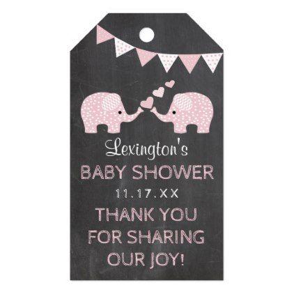 Twins elephant baby shower chalk look thank you gift tags twins elephant baby shower chalk look thank you gift tags negle Image collections