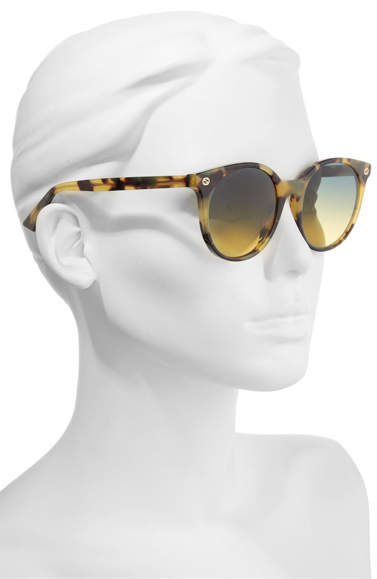 b179a2543d Main Image - Gucci 52mm Round Sunglasses