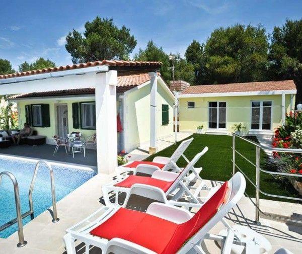 Villa in Milna, Ferienhaus mit Pool auf der Insel Brac