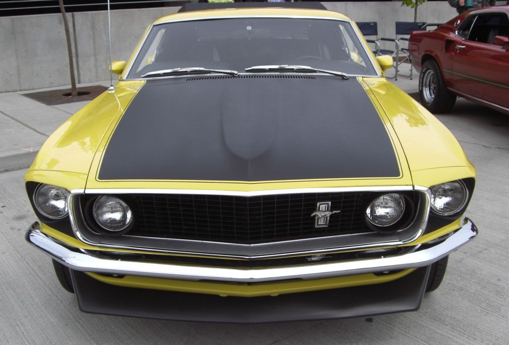 Bright Yellow 1969 Boss 302 Mustang Fastback - https://musclecarheaven.net/bright-yellow-1969 ...
