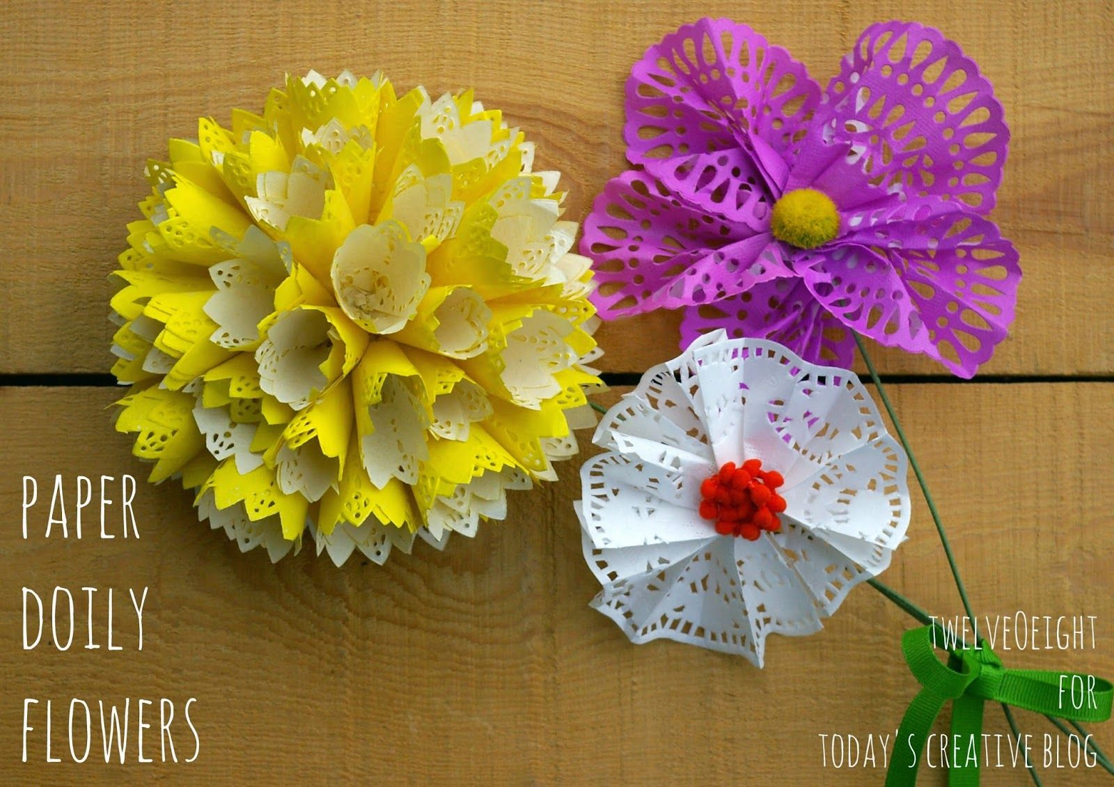 Diy Paper Doily Flowers Paper Doilies Diy Paper And Flower