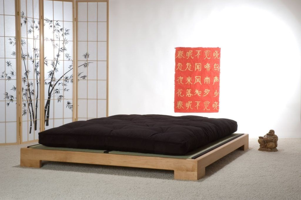 Japanese Queen Bed Frame With Images Japanese Style Bedroom Japanese Bed Japanese Bed Frame