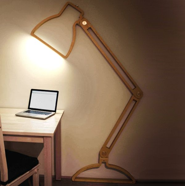 Desk Light Wall Mounted: Duvara Monte Masa Lambası
