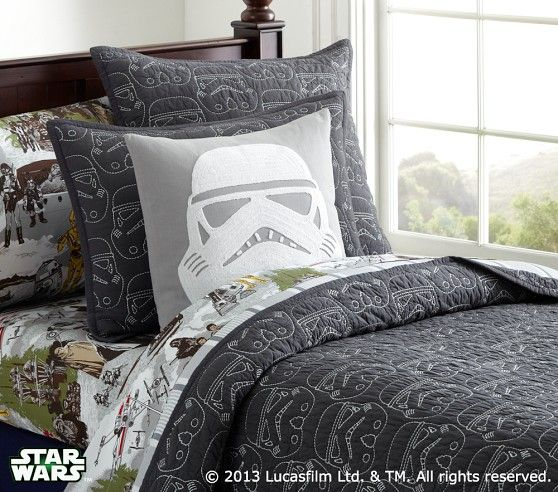 Star Wars Stormtrooper Quilted Bedding Pottery Barn Kids
