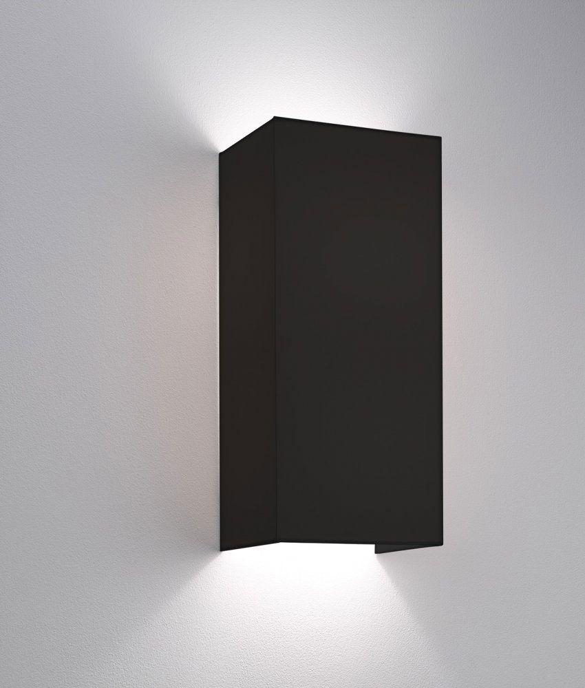 Simple fabric wall light tall shade up u down lighting m