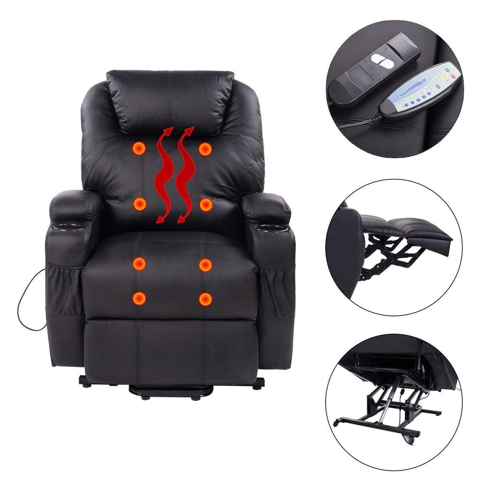 Leather massage chair recliner sofa armchair electric heating
