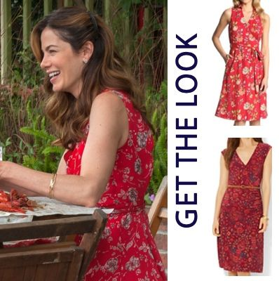 Best Of Me Movie Fashion And Costumes Older Amanda S Michelle Monaghan Red Fl Print Backless Dress