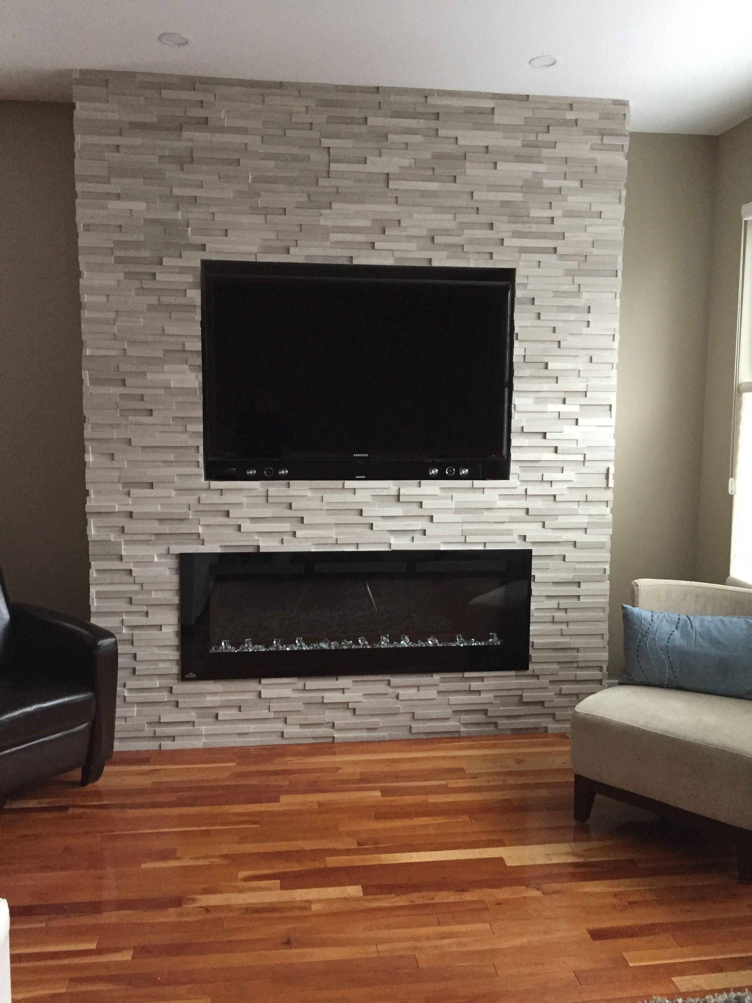 Fireplace Modern Ledge Stone Fireplace Tv Wall Fireplace Tv