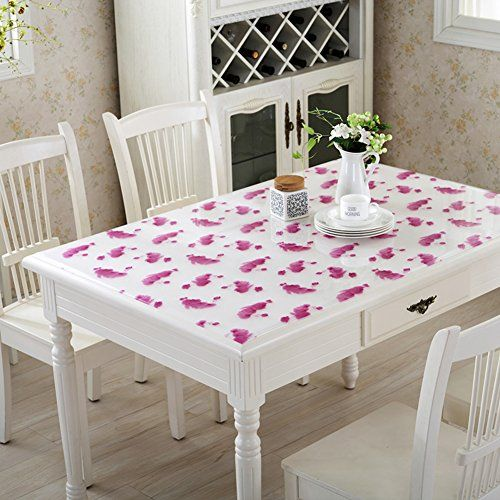 Tablecloth Pvc Table Cloth Transparent Soft Glass Waterproof Oil