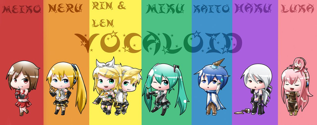 chibi girls images Vocaloids cute HD wallpaper and background photos