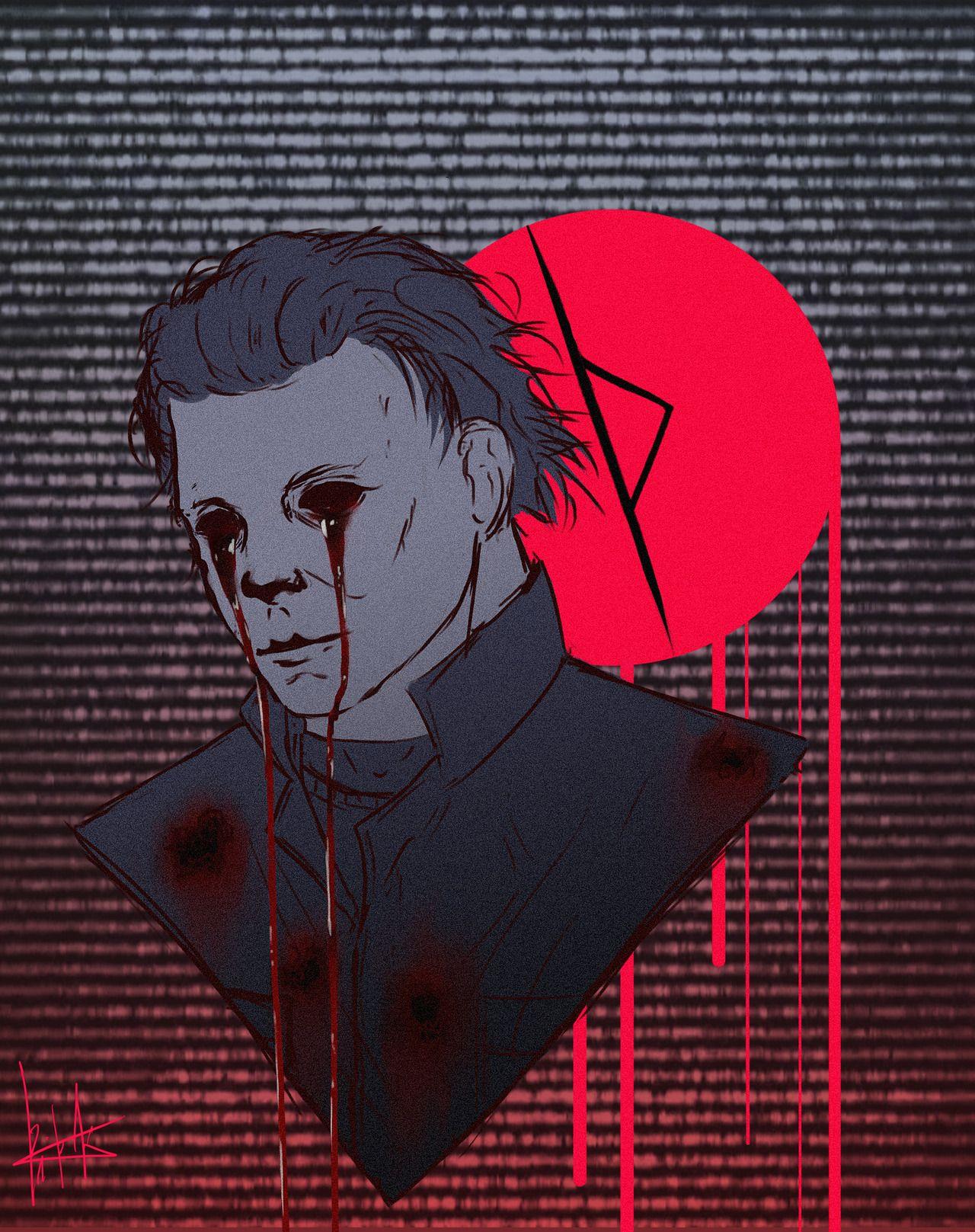 Kate Slasher Fics Horror Movie Art Horror Art Michael Myers Halloween