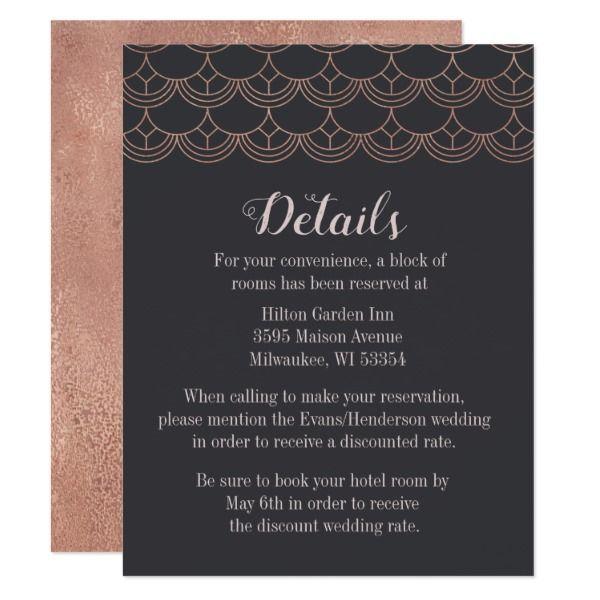 Deco Vibes Card Customizable Invitations beach summer wedding