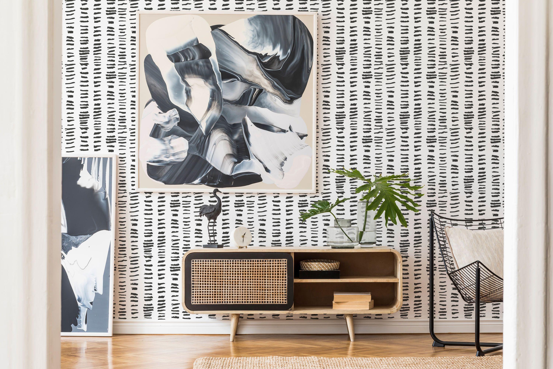 Brush Stroke Peel And Stick Wallpaper Horizontal Brush Etsy Peel And Stick Wallpaper Removable Wallpaper Wallpaper