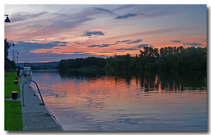Mohawk River Sunset Schenectady New York Schenectady Schenectady New York New York Bucket List