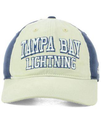 1347c2916d5 adidas Tampa Bay Lightning Sandblasted Slouch Cap - Gray Navy Adjustable