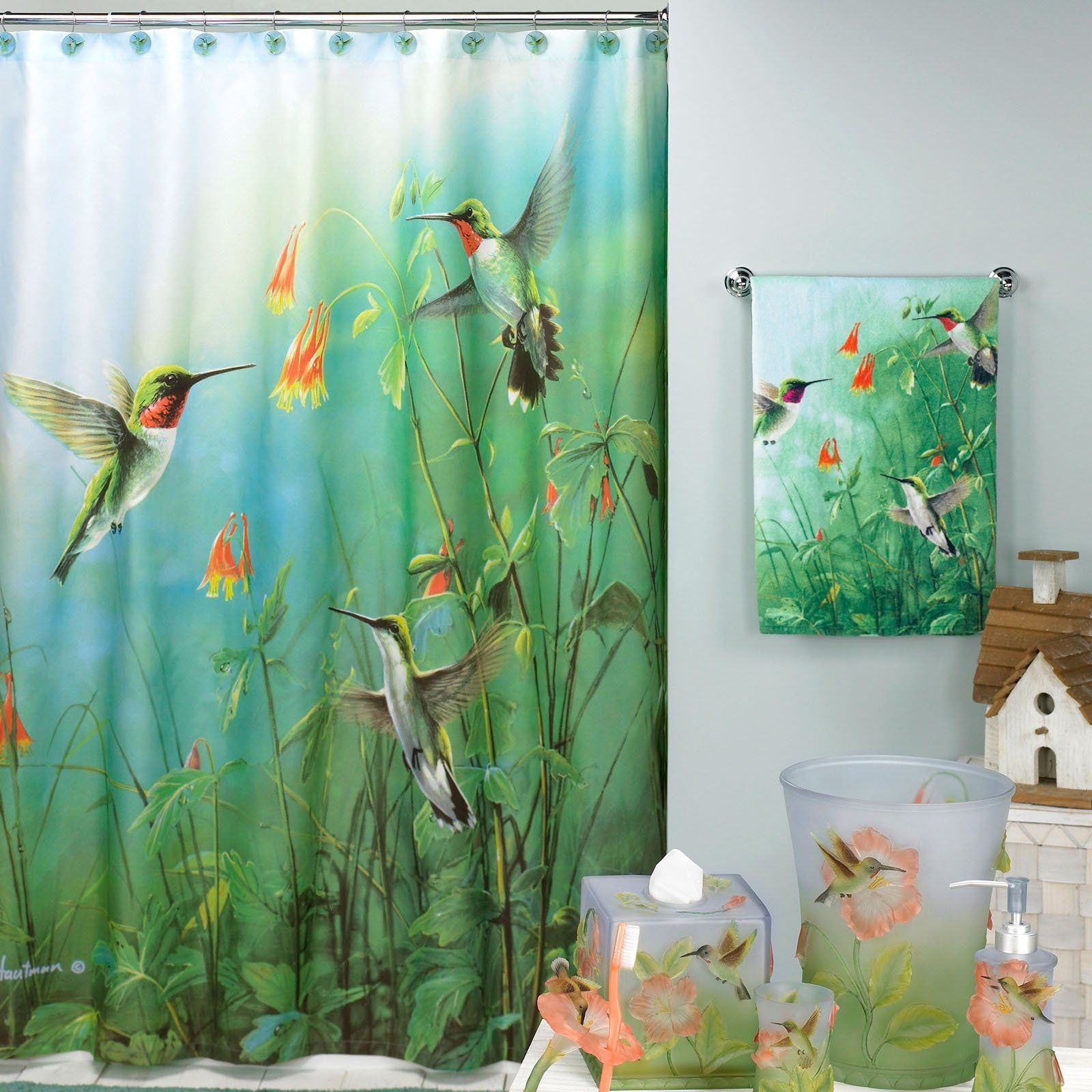 Superieur Summer Jewels Hummingbirds Shower Curtain | From Hayneedle.com
