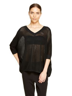 DKNY Mesh Stitch Pullover