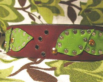 Elvish Leaves Dog Collar