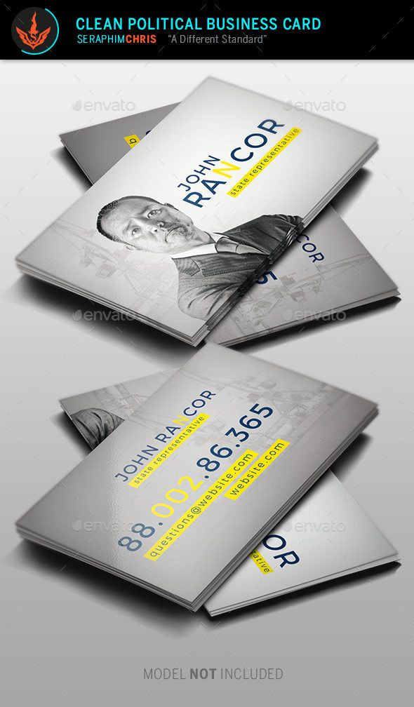 Clean political business card template card templates business clean political business card template colourmoves