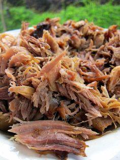 Kalua Pork - pork, hawaiian sea salt & liquid smoke flavoring. Cook 16-20 hrs on low in crock pot. I've made this before. Delish!