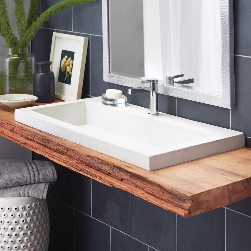 Native Trails Trough Concrete Handmade Rectangular Bathroom Sink Wayfair In 2020 Rectangular Sink Bathroom Modern Bathroom Sink Small Bathroom Sinks
