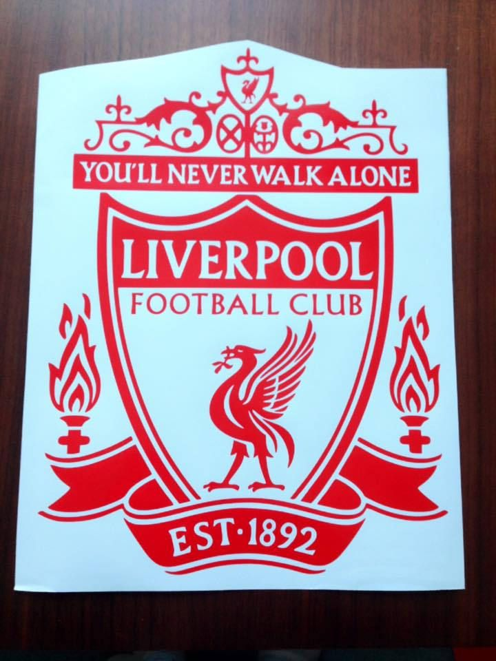 Liverpool fc lfc badge wall art vinyl decal stickers football club bedroom mural die cut adhesive ynwa by vinylcre8ivedesigns on etsy