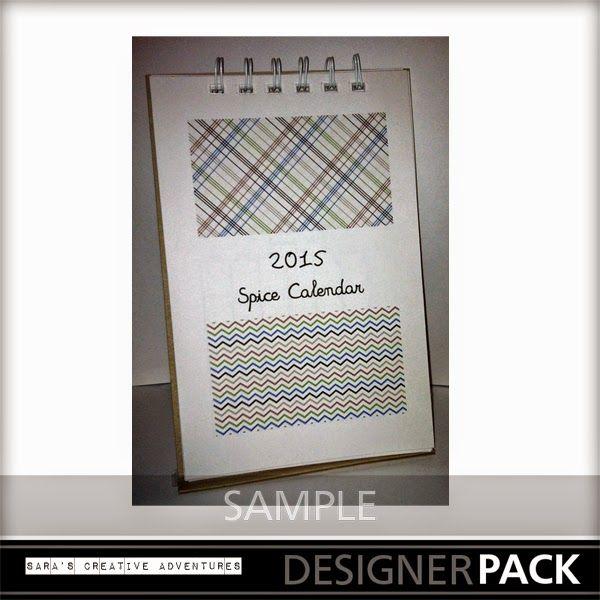 Sarau0027s Creative Adventures spice calendar sample My Memories - sample 2015 calendar