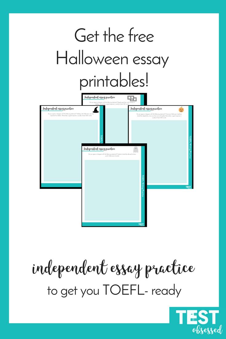 Halloween printable worksheet| ESL | ELL| TOEFL| Test prep | TOEFL ...