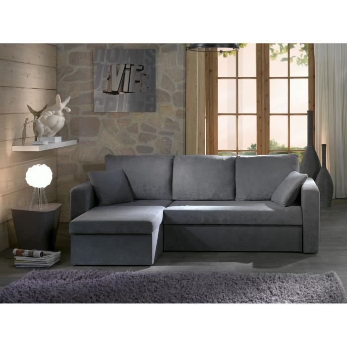 CANAPÉ SOFA DIVAN SANTIAGO Canapé Dangle Convertible Gris - Divans convertibles
