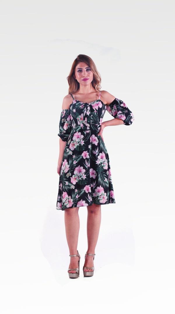 Cicek Desenli Elbise 201896352 Kapida Odemeli Ucuz Bayan Giyim Online Alisveris Sitesi Modivera Com Kadin Kiyafetleri Elbise Elbiseler