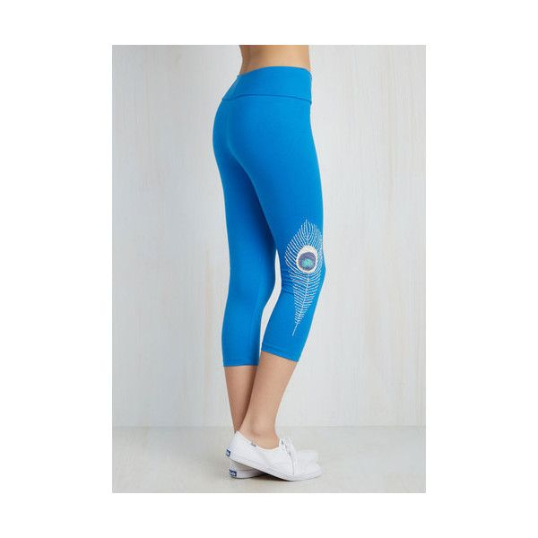 90s Skinny Monday Mantra Athletic Leggings (72 AUD) ❤ liked on Polyvore featuring activewear, activewear pants, apparel, blue, bottoms, leggings and athletic sportswear