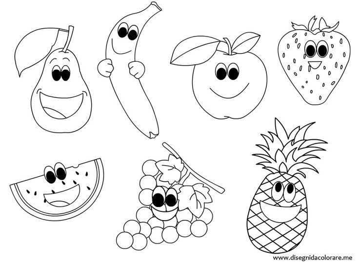 Afbeeldingsresultaat voor kleurplaat fruit | thema fruit | Pinterest ...
