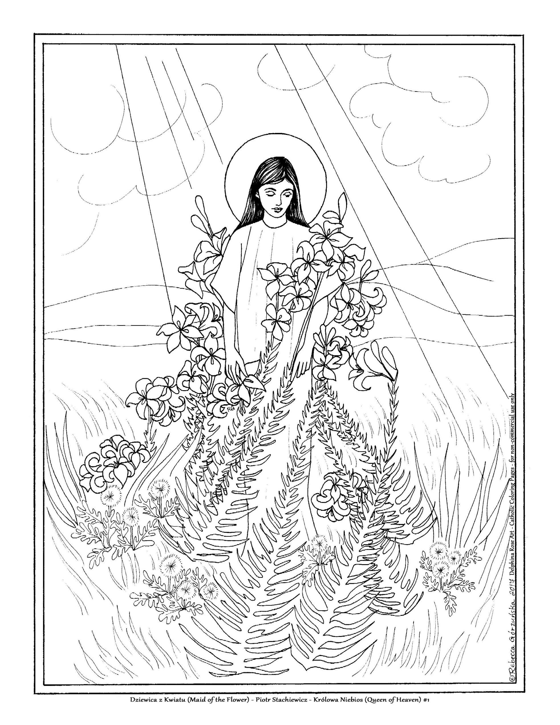 Queen Of Heaven Translation Coloring Book Queen Of Heaven Catholic Coloring Coloring Books