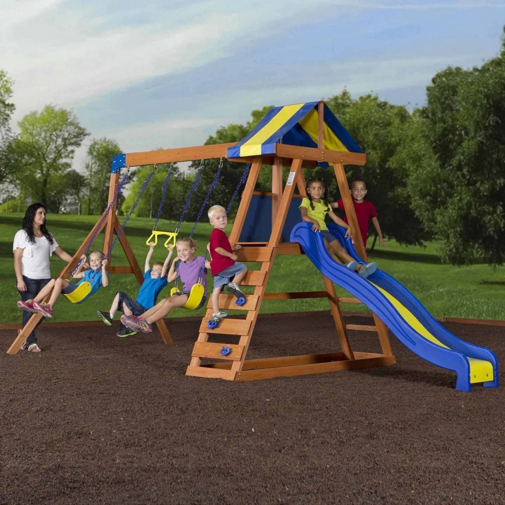 backyard playground sets backyard discovery dayton cedar wooden