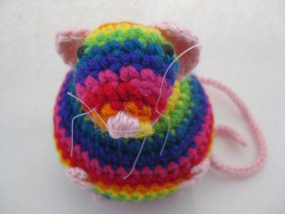 Amigurumi Learn : Handmade rainbow fat rat amigurumi plush rat on etsy