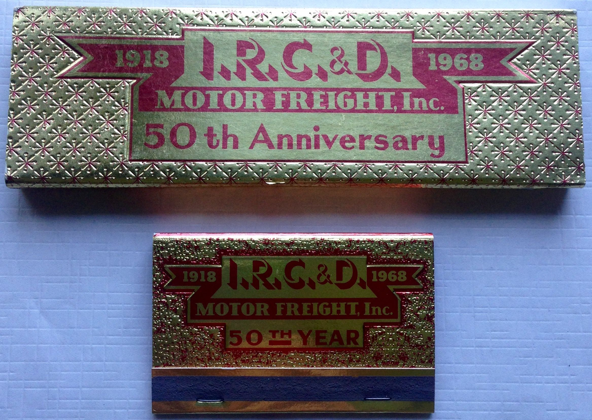 I R C D Trucking Co Matchbooks To Design Order Your